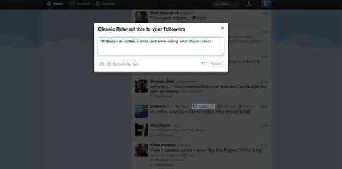 Edita tus retweets con Classic Retweet