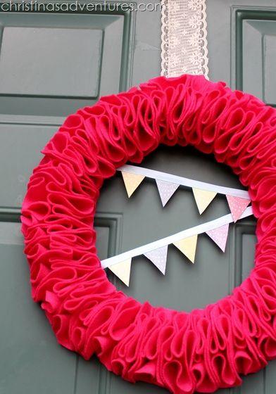 Spring Felt Bunting Wreath