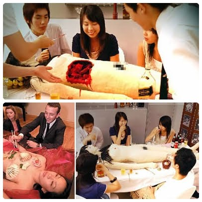 cannibalistic restaurant, nyotaimori, cannibalistic restaurant japan, cannibalistic restaurant beer, cannibalistic restaurant body parts, cannibalistic restaurant dining
