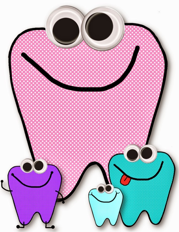 FREE googly-eye teeth clipart that is just perfect for dental health month.  TeacherKarma.com