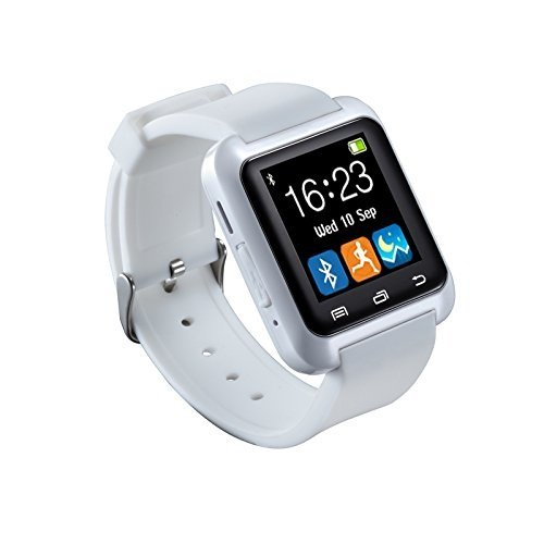 5IVE U80 Bluetooth 4.0 Smart Wrist Wrap Watch Phone for Smartphones IOS Android Apple iphone 5 (White)