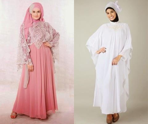Model Gamis Brokat Untuk Pesta Baju Muslim Terbaru 2015
