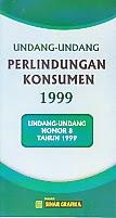toko buku rahma: buku UU perlindungan konsumen 1999, penerbit sinar grafika