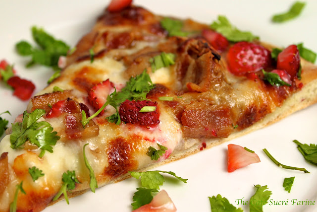 Bite – Strawberry Balsamic Pizza w/ Roasted Chicken, Sweet Onion ...