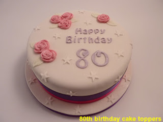 80th birthday cake toppers