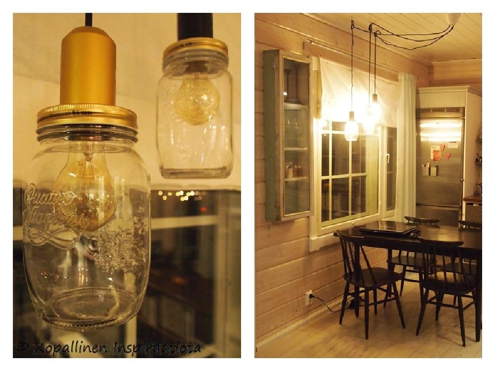 Kopallinen inspiraatiota Lamput lasipurkeista