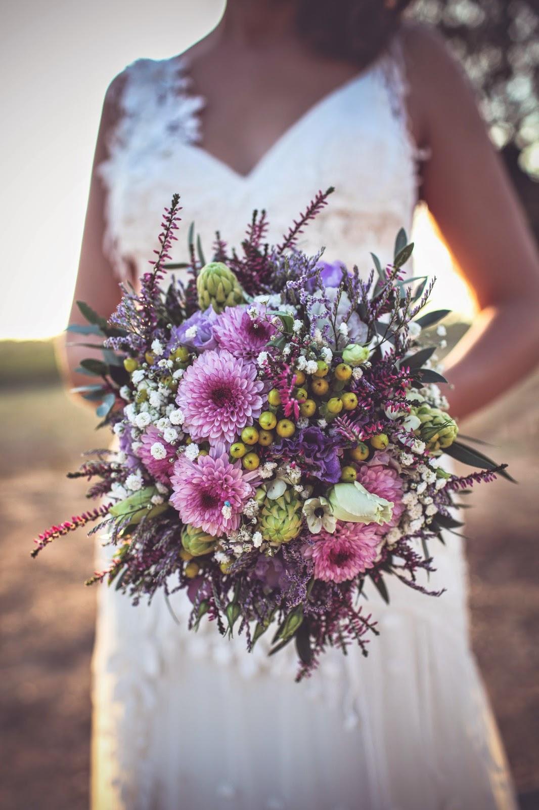 ramo novia asimétrico