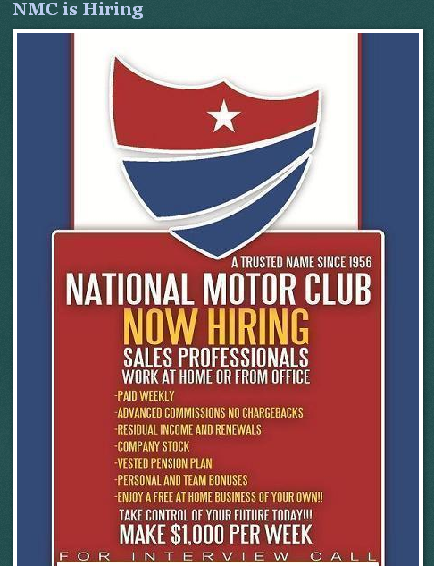 Why nmc is a scam for National motor club roadside assistance