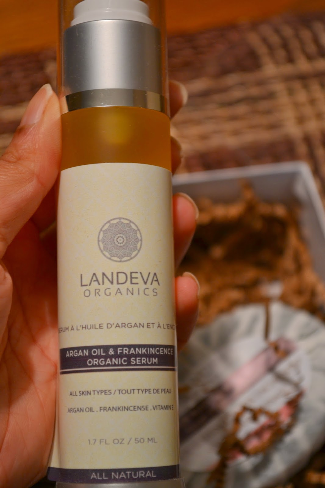 Landeva Organics Argan Oil and Frankincense Organic Serum