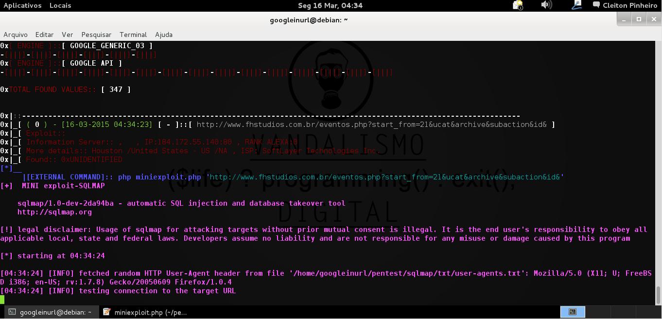 """Comando INURLBR: Se deseja usar filtro em motores de busca: ex: php inurlbr.php --dork 'SUA_DORK' -s salvar.txt -q 1,6  --comand-all """"php  miniexploit.php '_TARGETFULL_'""""  Execução:"""