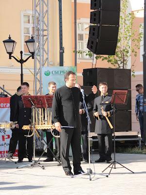 Сергей Поляниченко открывает концерт в Казанском кремле