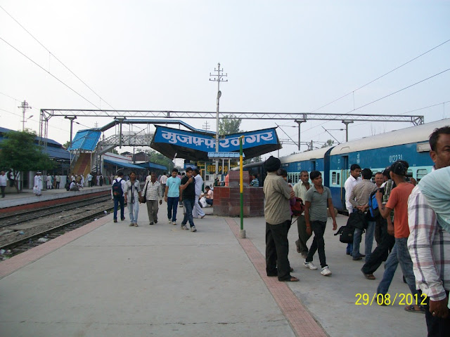 मुज़फ्फरनगर, लोह्पथ गामिनी स्थानक