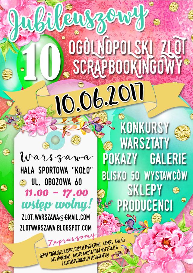 Ogólnopolski Zlot Scrapbookingowy 10.06.2017 Warszawa
