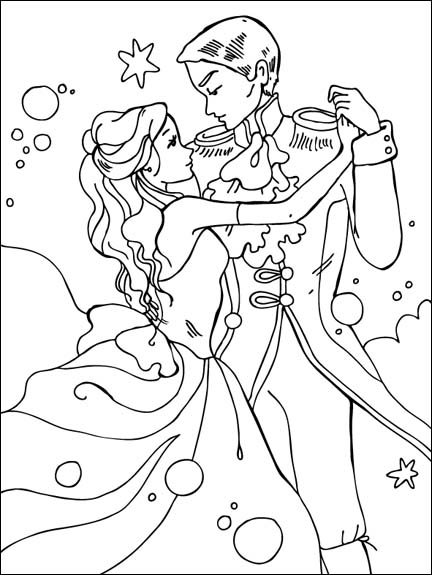 Disney Prince and Princess Coloring Pages