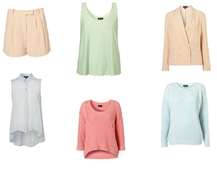 pastel farvet tøj