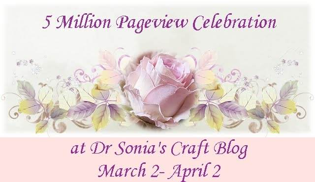 5 million page view celebration with Sonia