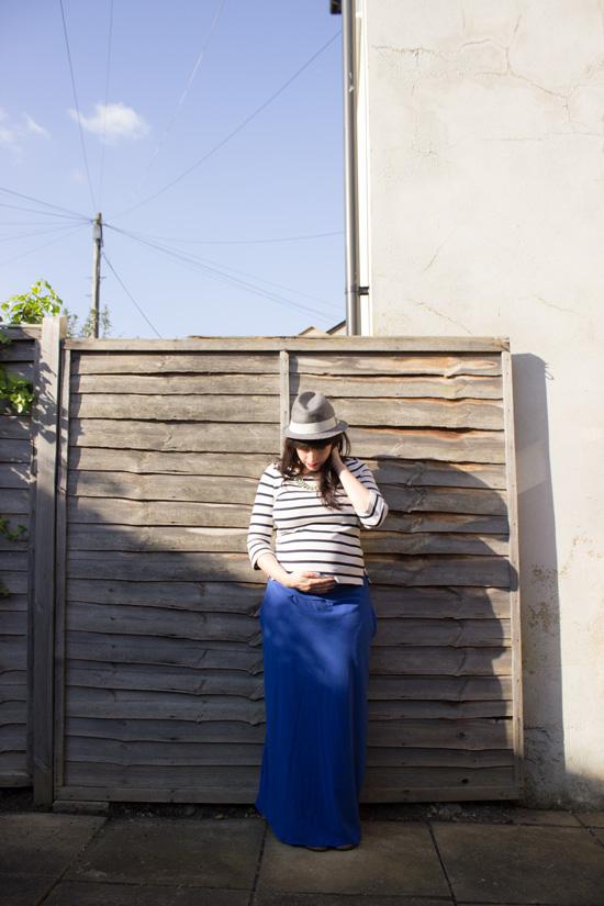 diy pattern the easy maternity maxi skirt randomly happy