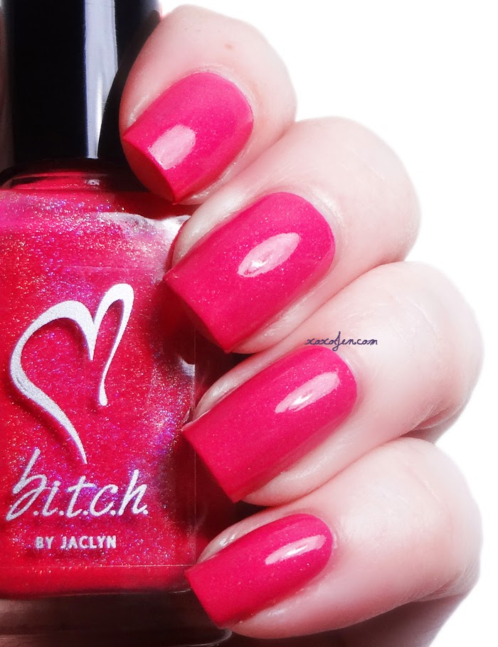 xoxoJen's swatch of b.i.t.c.h. by jaclyn Kiss-Off, Bitch
