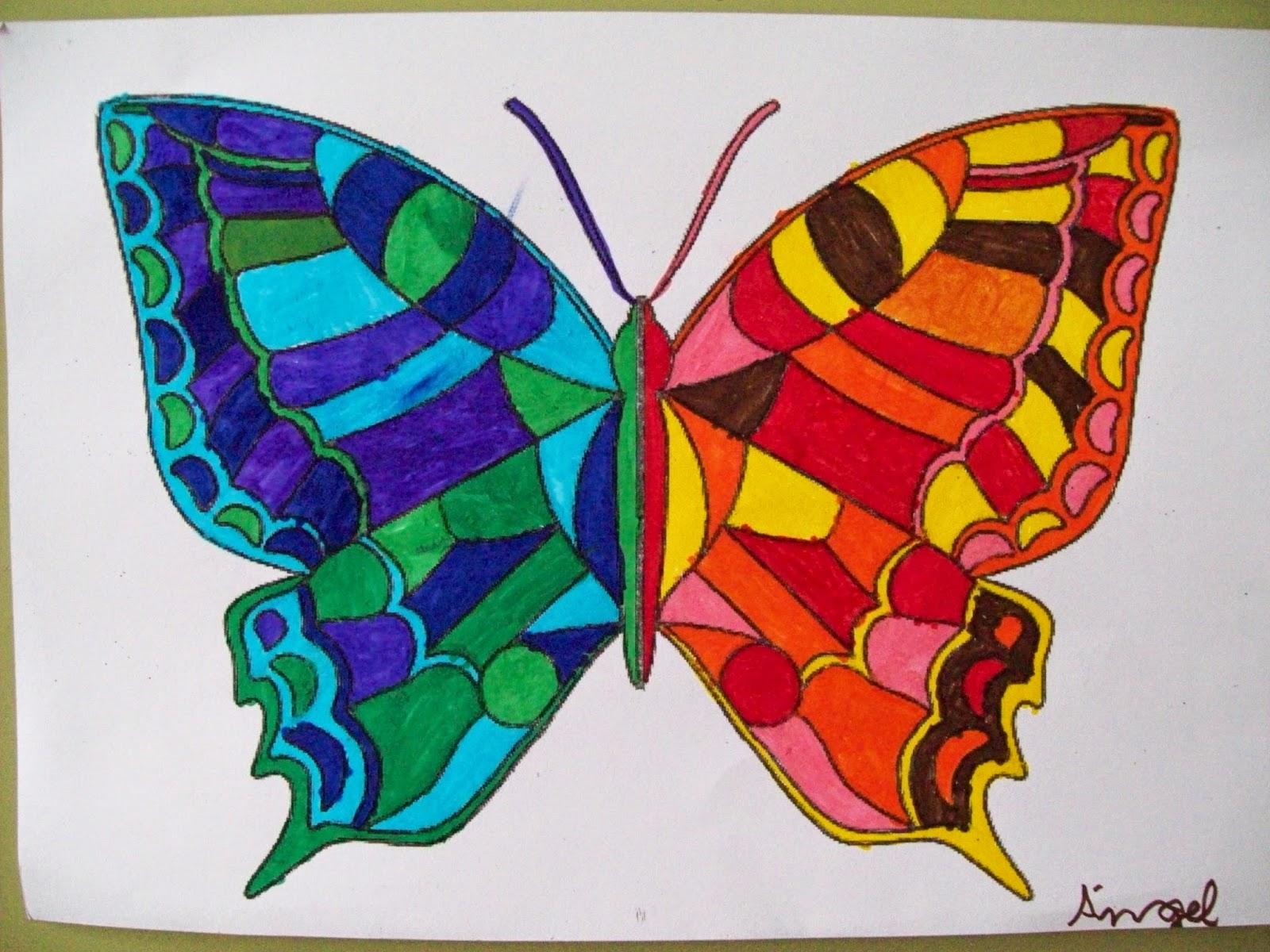 La clase de 2 b colores fr os y colores c lidos for Imagenes de cuadros abstractos para colorear