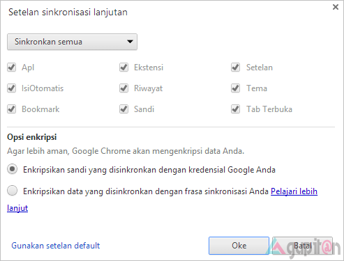 Cara Mengaktifkan Setelan Sinkronisasi Google Chrome