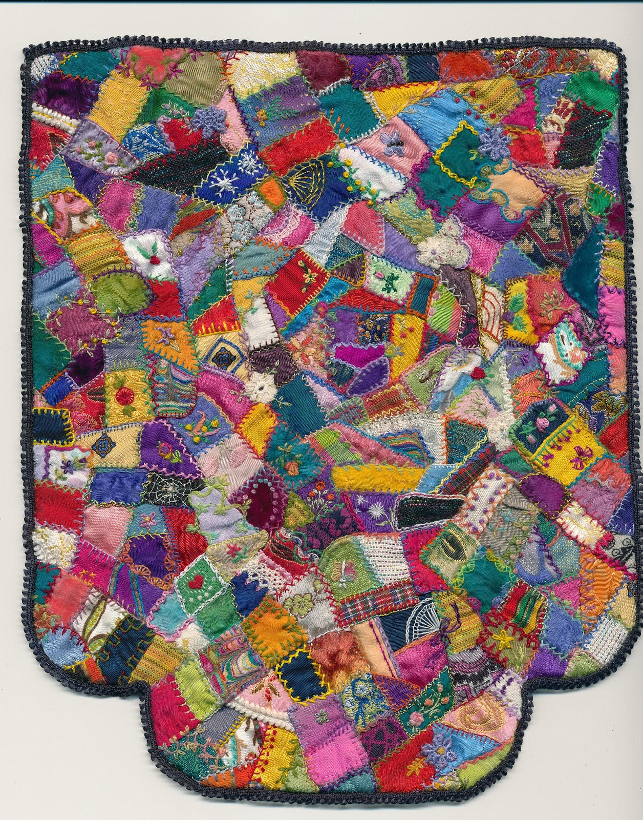 Crazy Quilt Pattern Images : anlaby dollshouse: Dolls House Size Crazy quilt