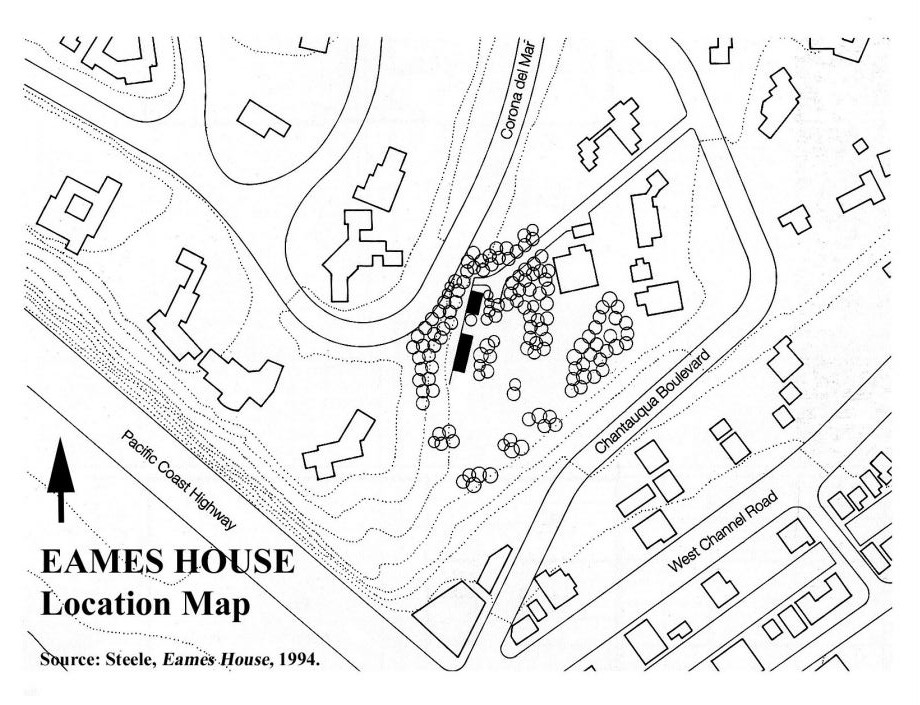 eames house cultural history map Eames House Plan Section Elevation www nps gov nhl designations samples ca eames pdf eames house plans sections and elevations