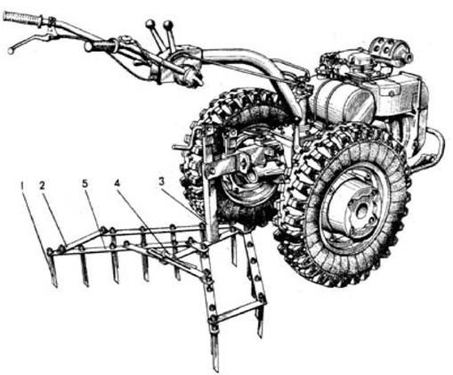 Картофель: посадка мотоблоком, нарезка борозд и окучивание