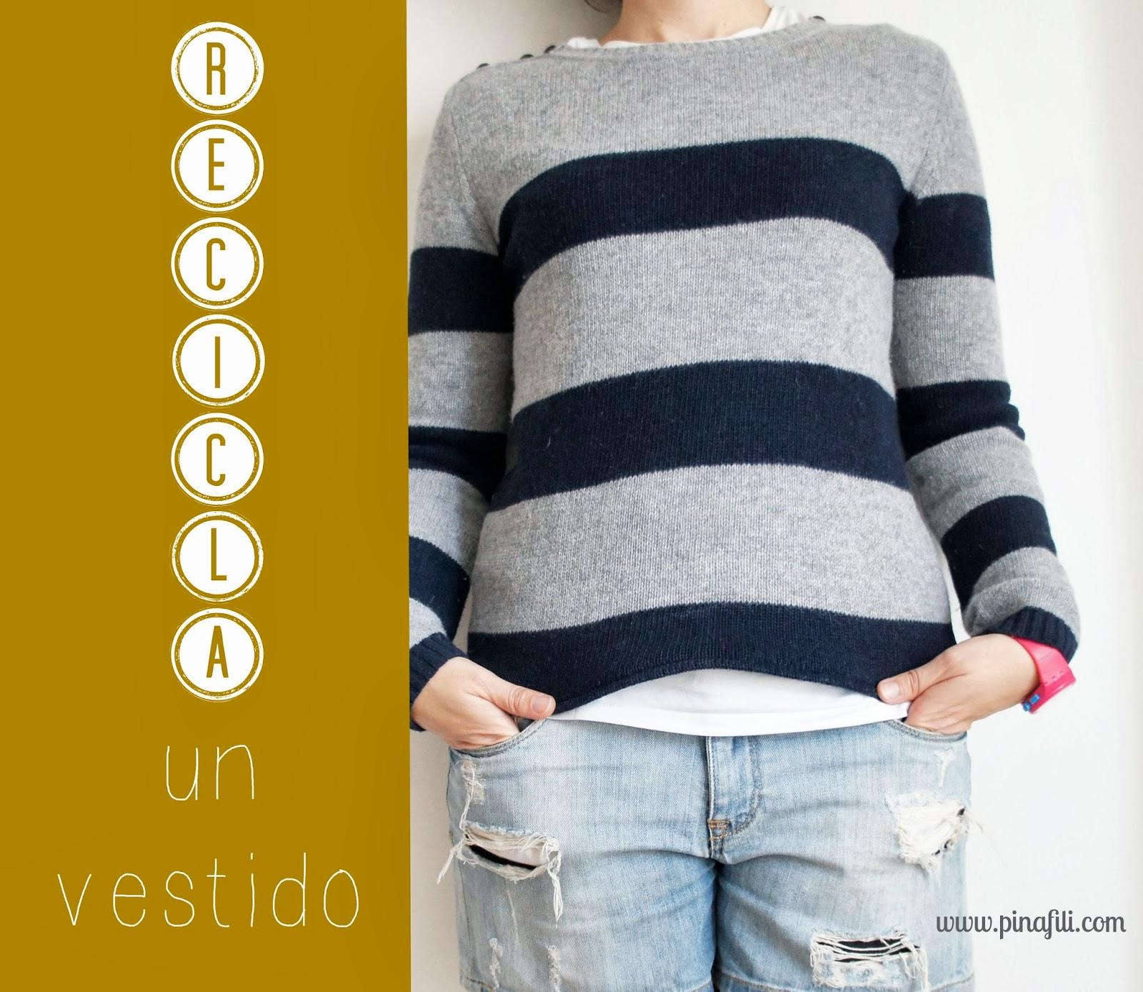 Pinafili video recicla tu ropa de vestido de lana a jersey - Reciclar restos de lana ...