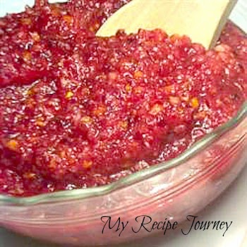Easy  No-Cook Cranberry Relish - Only 3 Ingredients