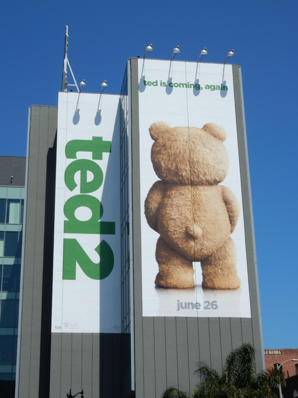 Giant Ted is coming again billboard