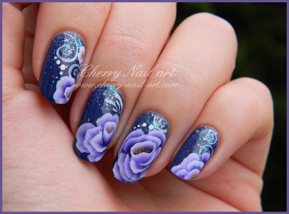 nail art fleur one stroke concours Nita Garcia la france a un incroyable talent