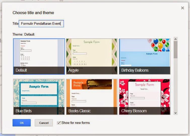 Formulir Pendaftaran Google Drive