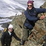 Bergsteiger im Hotel Tyrol