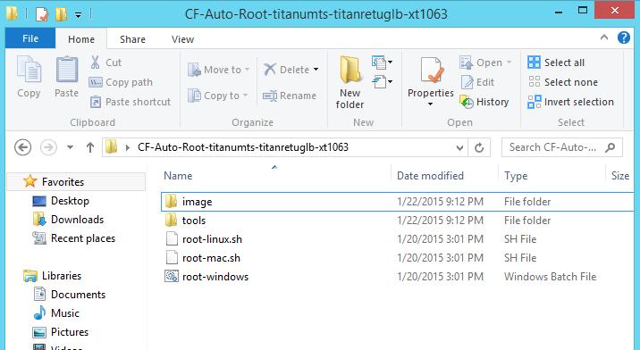 Cf auto root files