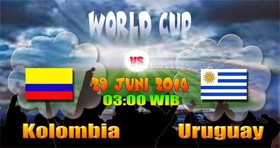 Prediksi Skor Kolombia vs Uruguay, 16 Besar Piala Dunia 2014 | 29 Juni 2014