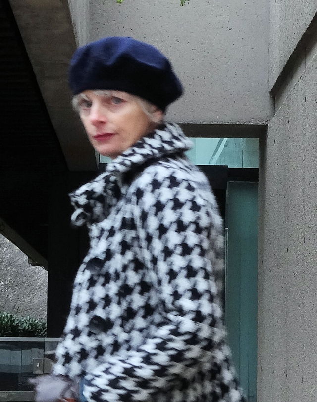 Mel Kobayashi, houndstooth jacket and a beret