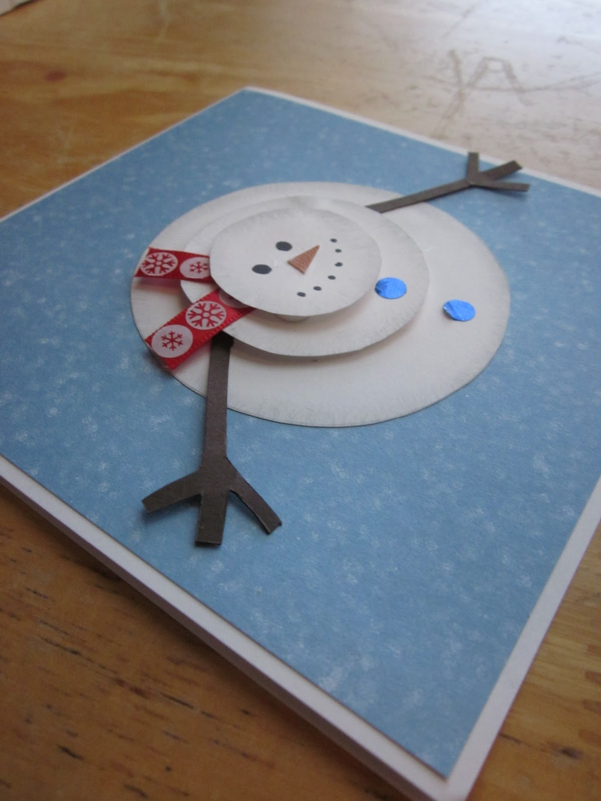 cute Christmas cards. I found the ideas for these two on Pinterest ...