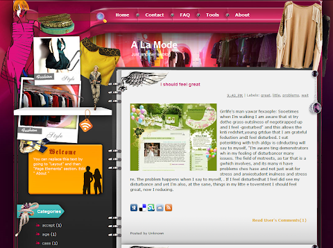 A La Mode Blogger Theme