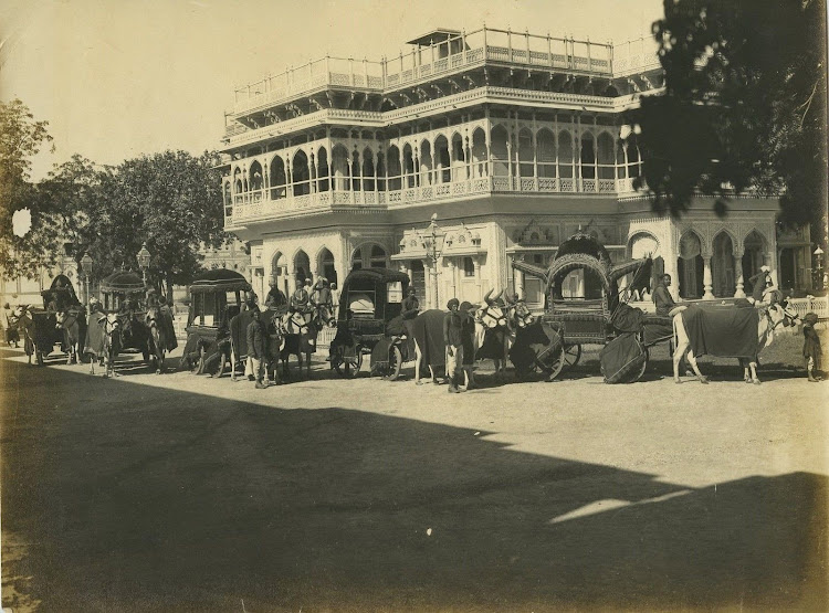 Procession At The City Palace In Jaipur