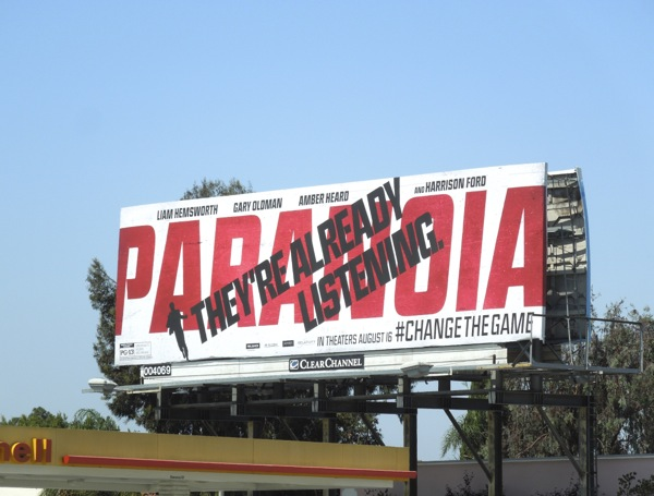 Paranoia They're Already Listening movie billboard