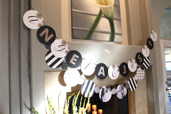 black and white bridal shower