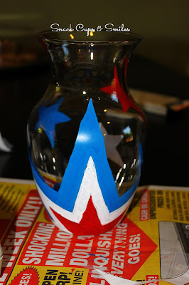 My Patriotic Vase + DIY Flowers
