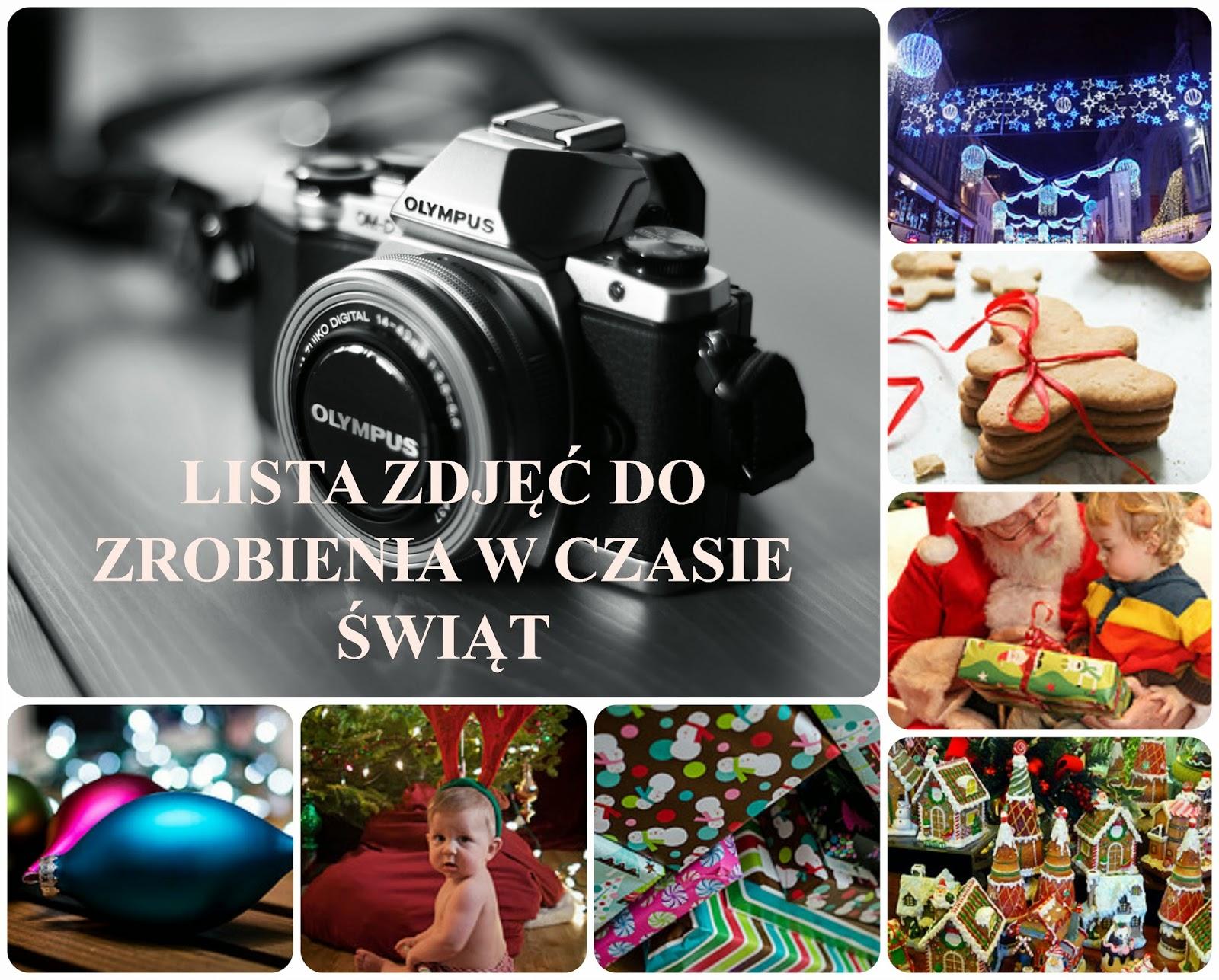 Lista zdjęć do zrobienia w czasie Świąt Bożego Narodzenia