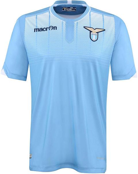 Macron apresenta as novas camisas da Lazio - Show de Camisas ef0f09b5c4751