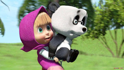 Masha dan Panda Naik Sepeda
