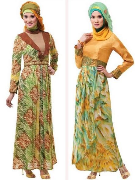 Gambar Model Baju Gamis Muslim Pesta Modern Terbaru Murah 2017
