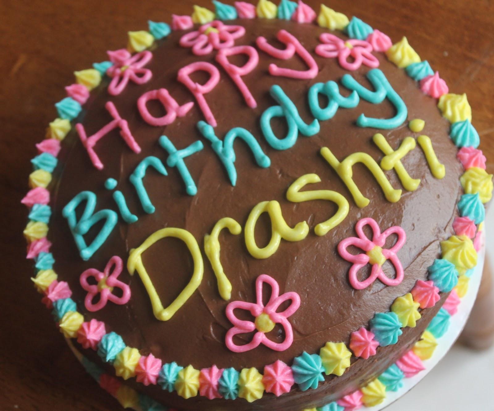 Happy Birthday Karishma Chocolate Cake