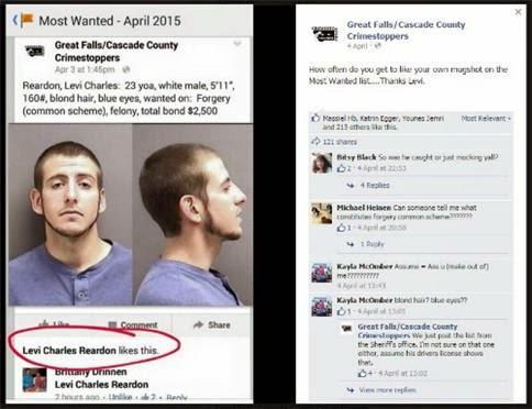 Suspek ditahan selepas tekan butang 'like' di laman Facebook si pemburu