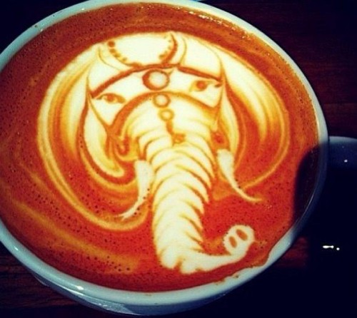 latte art animal designs