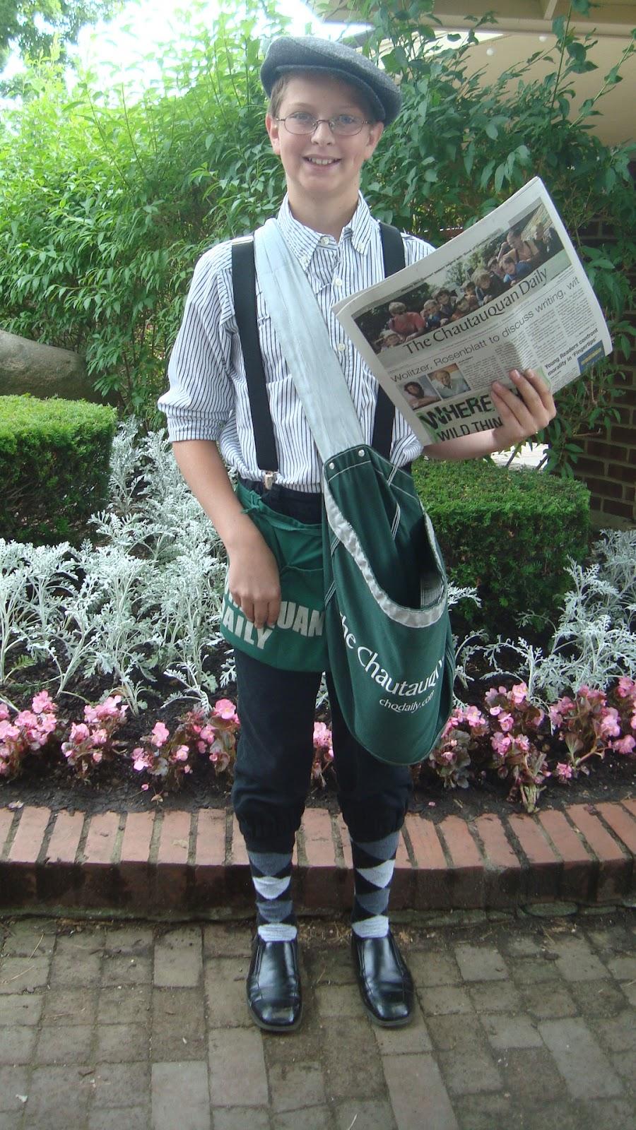 Vintage Newspaper Boy Fashioned Newspaper Boys